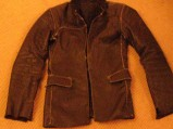 leather jacket i constructed to finish the trip